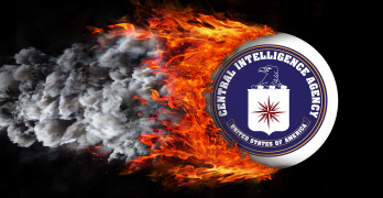 Flag With A Trail Of Fire - Cia