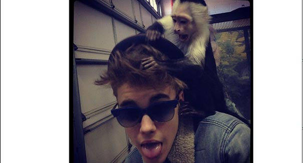 What happened to Justin Bieber's pet monkey? Did the Germans keep him?