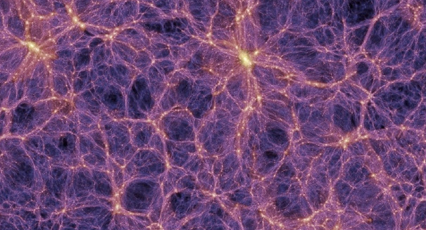 Dark matter strands seen for the first time