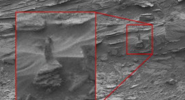 Aliens & UFO Sightings: NASA's Curiosity Rover Captures Woman-Like Figure on Mars