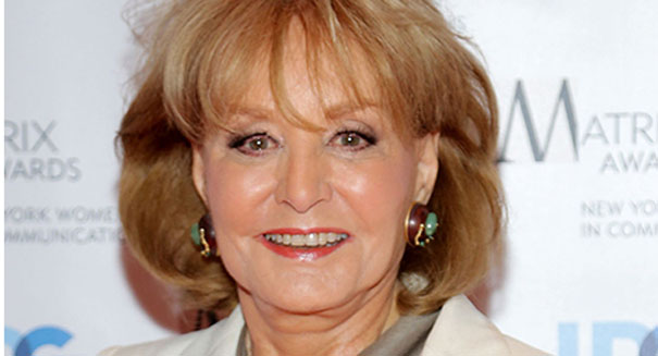 Barbara Walters falls, cuts head, is hospitalized in Washington